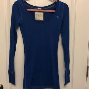 Abercrombie and Fitch Blue Long Sleeve Shirt